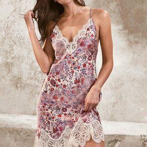 Victoria's Secret lace trim midi slip